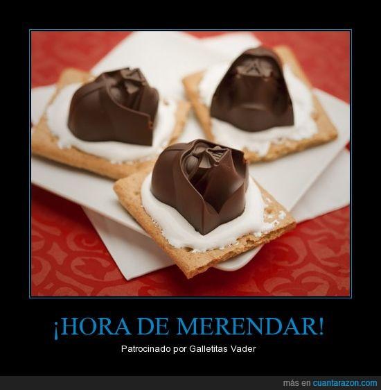 bombon,cafe,chocolate,darth vader,Galletas,merienda time,star,wars