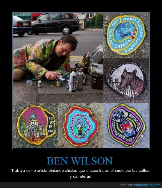 artista,ben,calle,chicles,dibujos,wilson