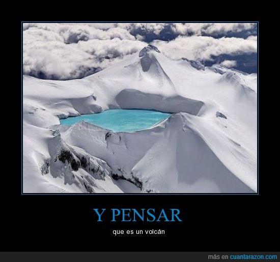 cima,emerald lake,hielo,montaña,nieve,volcán