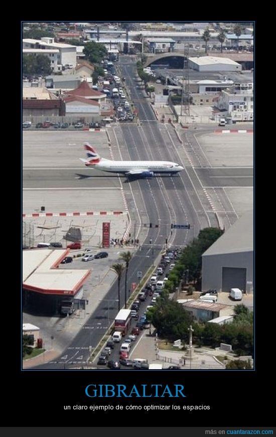 aeropuerto,calle,carretera,espacio,gibraltar,optimizar