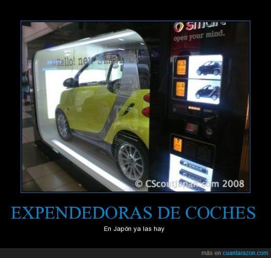 coches,expenedora,japón,máquina,smart