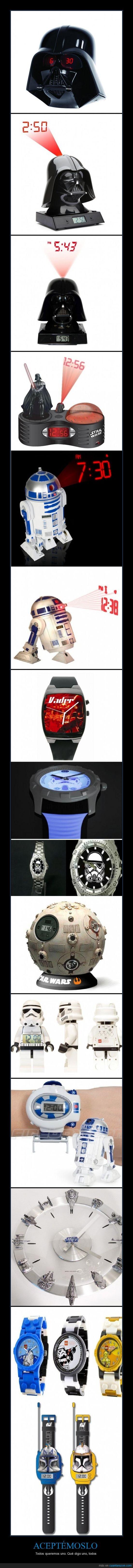 darth vader,guerra de las galaxias,halcón milenario,holograma,imperio,r2d2,reloj,star wars