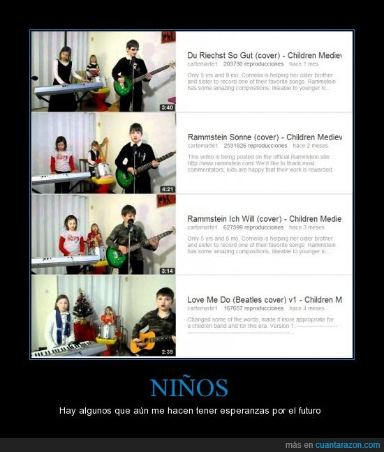 cover,musica,niños,rammstein,youtube