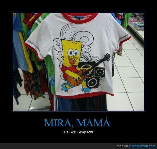 bart,Bob,camiseta,esponja,fake,falsa,fuuuusion,imitacion,Simpson