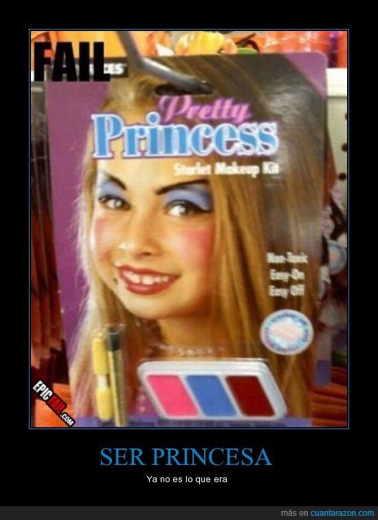 choni,fatal,juguete,maquillaje,miedo,niña,princesa,rojo