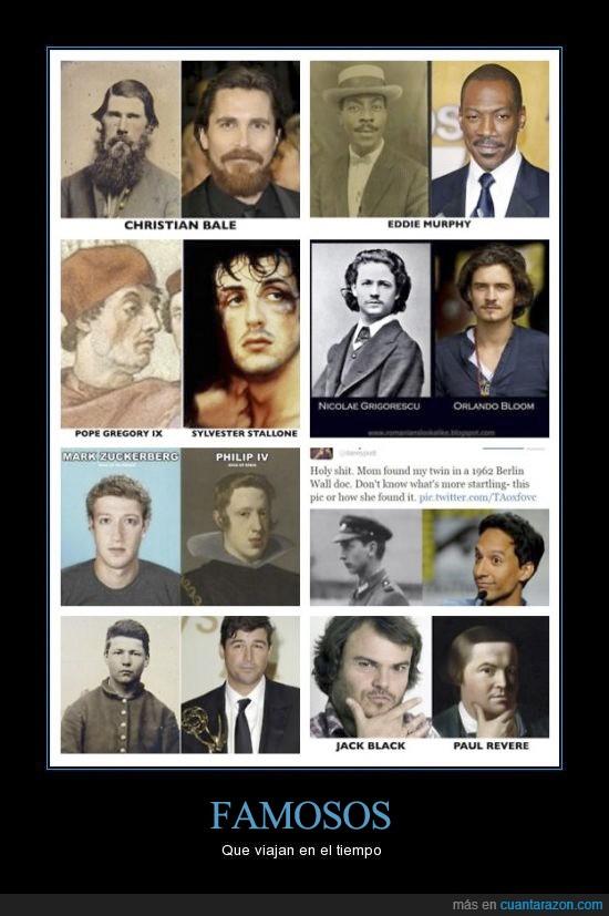 actores,bale,eddie murphy,jack black,pasado,retratos,stallone,zuckerberg