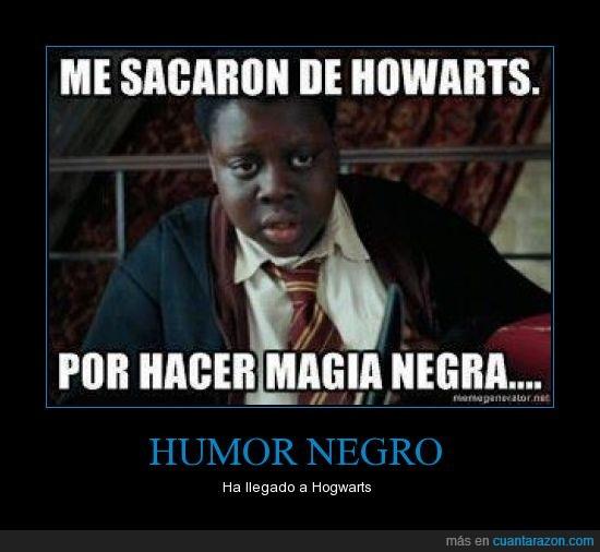 gordo,hogwarts,humor,magia,negro