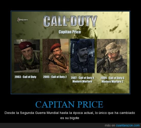 capitan price,COD,COD MW,epocas actuales,friki,segunda guerra mundial