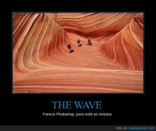 arizona,desierto,ola,paisajes,photoshop,real,roca,the wave