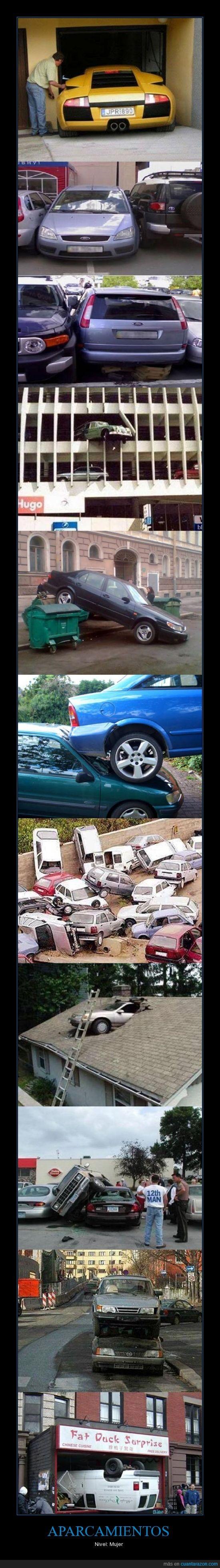accidente,aparcamiento,aparcar,coche,fatal,mal,mujer