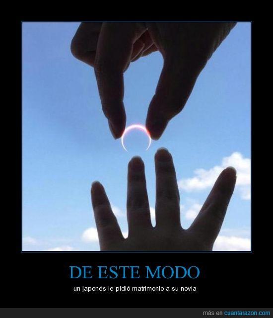 anillo,eclipse,japones,matrimonio