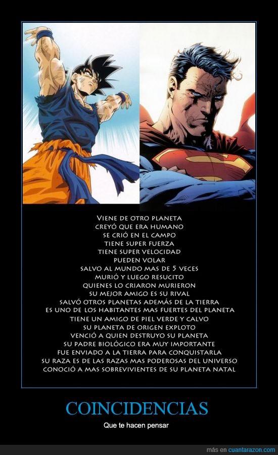 coincidencias,copia,goku,parecidos,plagio,similares,superman