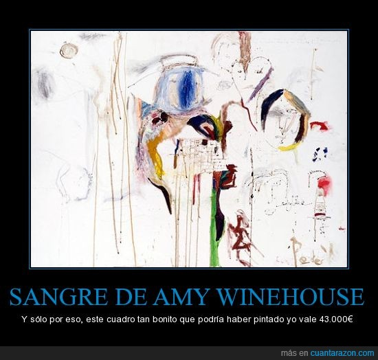Amy Winehouse,Barbaridad,Brochazos,Cantante,Colores,Cuadro,Mal Pintado,Morir,Peter,Sangre