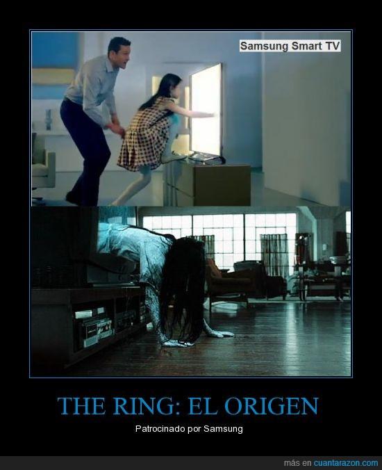 cine,entra,niña,salir,samsung,señal,televisión,the ring