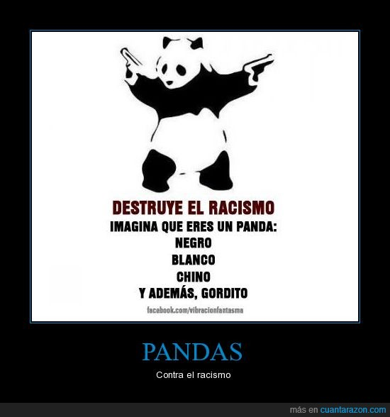 blanco,chino,gordo,negro,oso,panda,racismo
