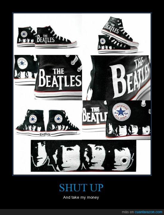 converse,george,harrison,john,lennon,mccartney,paul,ringo,starr,the beatles,zapatillas