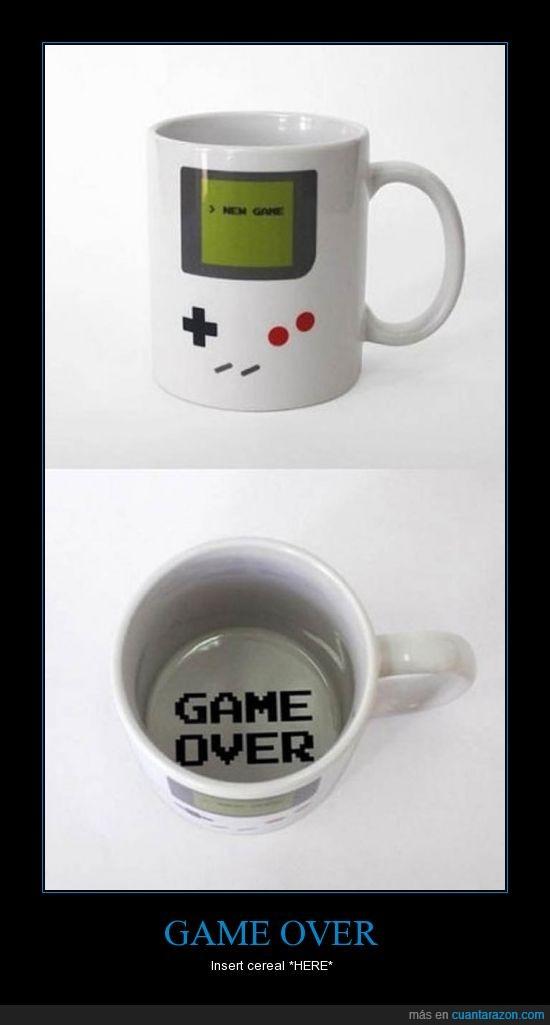 game boy,game over,gamer,retro,taza