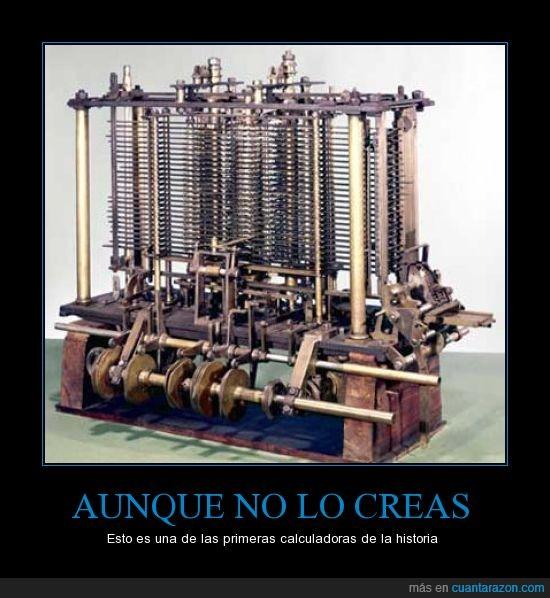 calculadoras,evolución,informática,invento,primeras