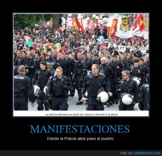 abrir,alemania,calles,frankfurt,policía,proteger,pueblo