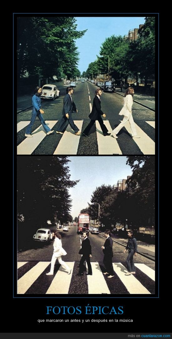 Abbey Road,Beatles,cebra,épica,fotos,ir,música,paso,volver