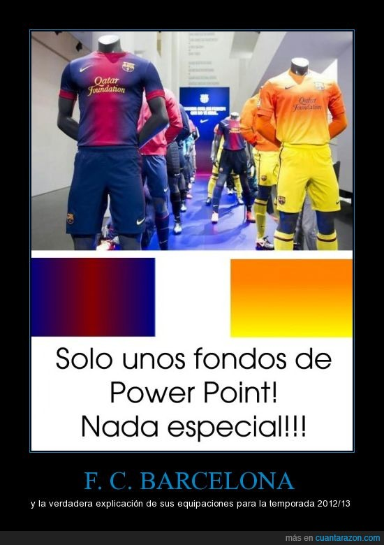 barça,equipaciones,f.c.barcelona,power point