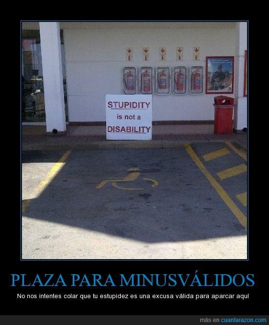 aparcamiento,estupidez,minusvalidos,parking