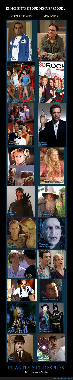 actor,actriz,chaplin,downey,drew barrymore,gandalf,house,joker,leonard,magneto,modern family,robert,stark