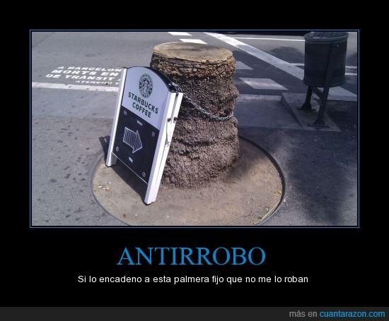 antirrobo,cadena,coffee,genius,palmera,robar,starbucks