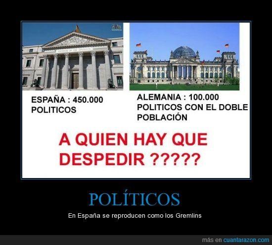 crisis,despido,España,Gremlins,parlamento,politicos
