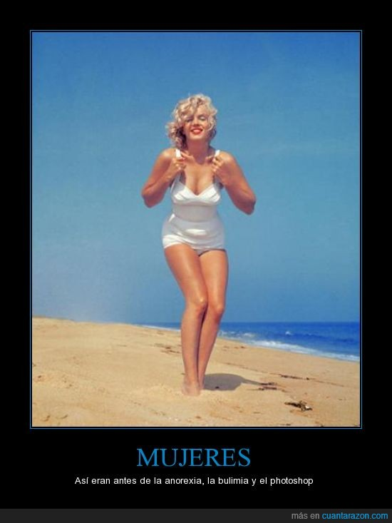 anorexia,injusticia,Marilyn Monroe
