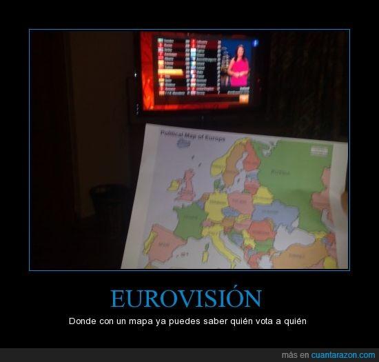 europa,eurovisión,mapa,votos