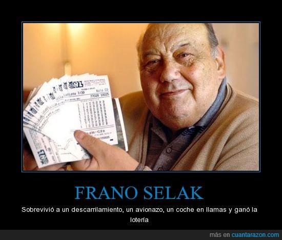 avion,coche,descarrila,Frano,gana,hombre,llamas,loteria,premio,selak,suerte,tren