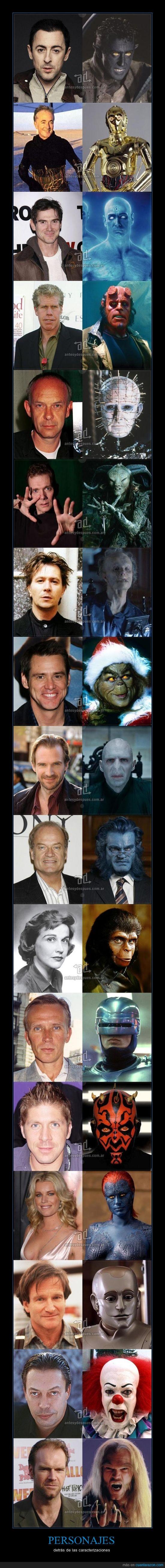 C3PO,cine,dr.manhattan,fauno,hellboy,máscaras,pinhead,rondador nocturno
