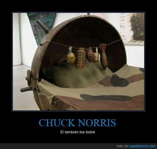 bebe,bombas,chuck norris,coche,granadas