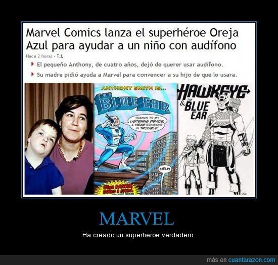 audífono,creación,Marvel,superheroes