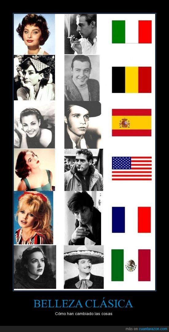 Alain Delon,Audrey Hepburn,Brigitte Bardot,Carmen Sevilla,Fernand Gravey,Jorge Negrete.,Liz Taylor,María Félix,Paco Rabal,Paul Newman,Rodolfo Valentino,Sophía Loren