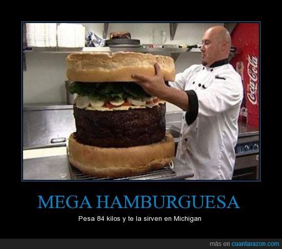 hamburguesa,kilos,mega,Michigan