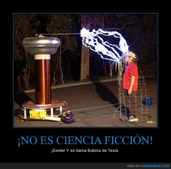 Bobina,Bobina de tesla,ciencia ficcion,existe,Nikola Tesla