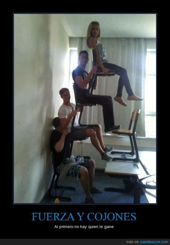aguante,fuerza,sillas