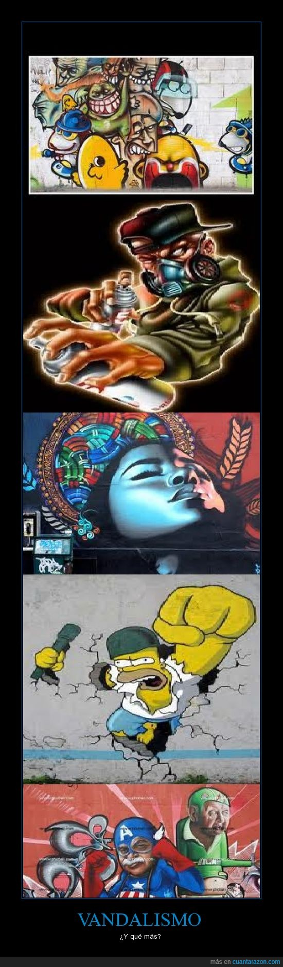 ARTE,capitan,graffitis,homer,pared,pintada,vandalismo