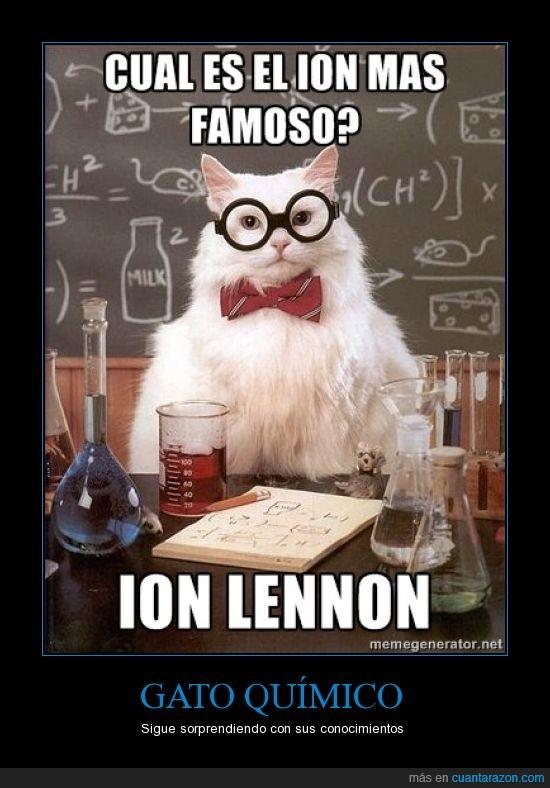 gato químico,ion,john lennon