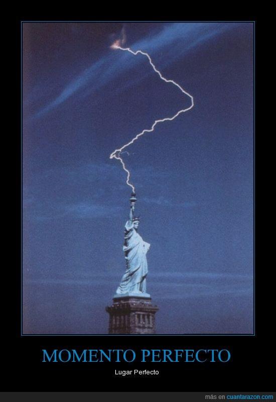 Estatua de la libertad,foto,Nueva York,rayo