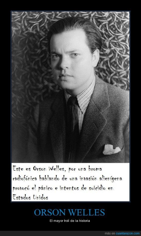 broma,EEUU,extraterrestre,invasión,Orson Welles,pánico,suicidio,troll