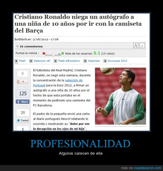 autógrafo,fail,fútbol,niña,Ronaldo