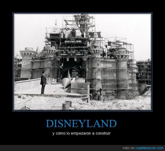 antigua,castillo,contrucción,Disneyland,proceso