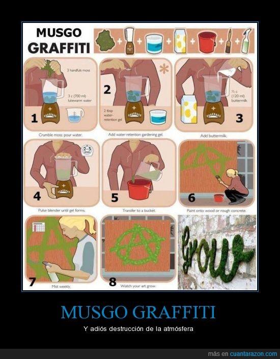 Ecología,Graffiti,Musgo
