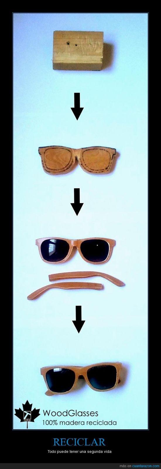Gafas,Madera,reciclaje,Reciclar,retro,wayfarer