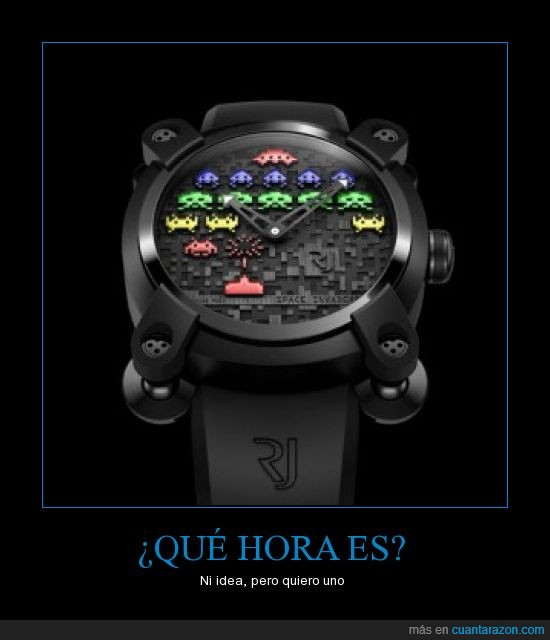 hora,molar,quiero,reloj,space invaders