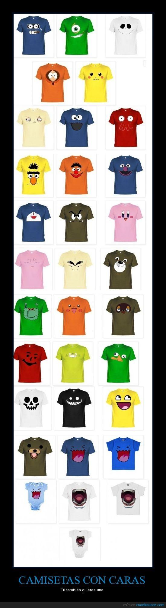 blas,camisetas,cara,doraemon,epi,pedo bear,pokemon