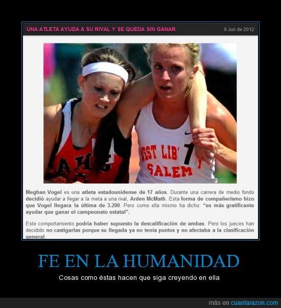 atleta,ayuda,carrera,fe en la humanidad,solidaridad